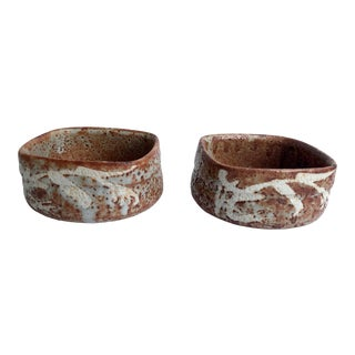 Japanese Art Pottery Bowls - a Pair For Sale