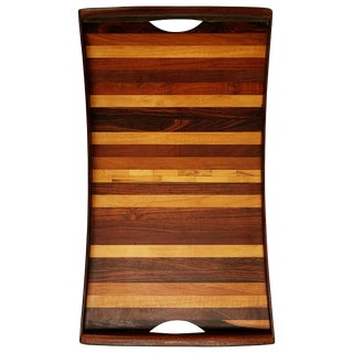 Don Shoemaker Exotic Wood Inlaid Tray for Señal, Circa 1970 For Sale