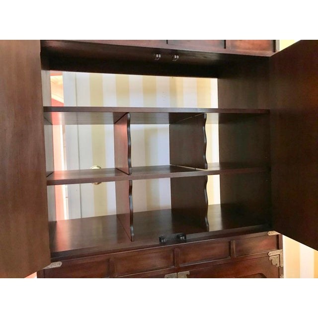 Henredon Tansu Collection Armoire Wardrobe For Sale - Image 11 of 13