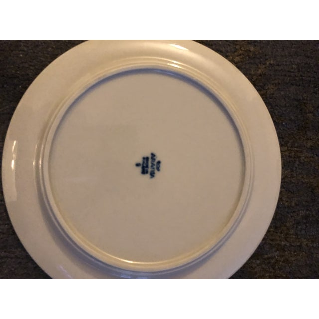 Arabia Arabia of Finland Anemone Blue Salad Plates - Set of 10 For Sale - Image 4 of 5