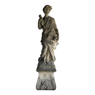 Antique Italian Stone Statue For Sale