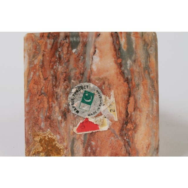 Late 20th Century Pink Marble Obelisk For Sale - Image 4 of 5