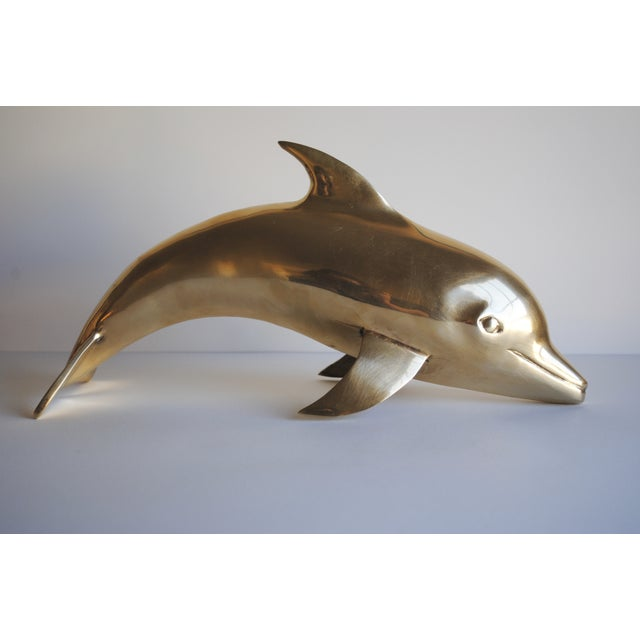 Large Vintage Brass Dolphin - Image 5 of 5