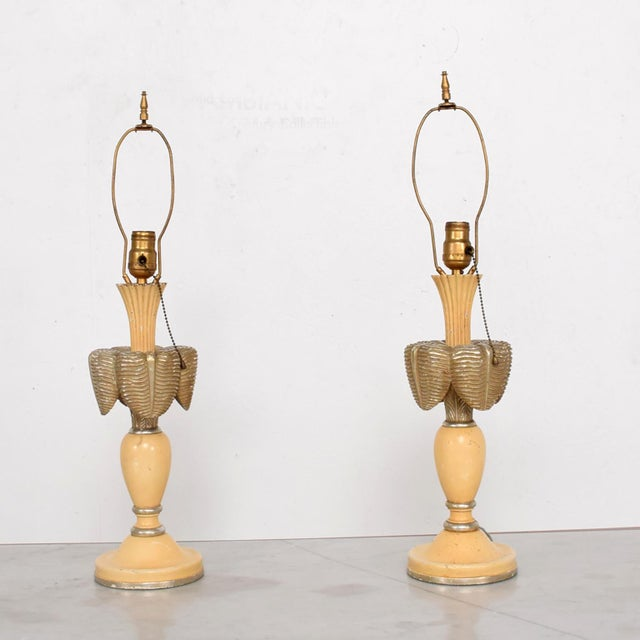Neoclassical Neoclassical Sculptural Table Lamps, Circa 1940s For Sale - Image 3 of 12