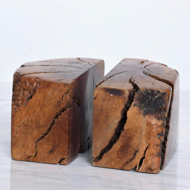 Mid Century Modern Burl Wood Bookends Attr Don Shoemaker For Sale In San Diego - Image 6 of 11