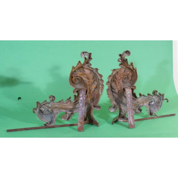 French 1900 French Chenets / Andirons - a Pair For Sale - Image 3 of 4