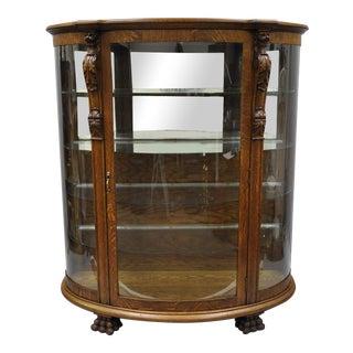 Vintage Cowperthwait Oak China Cabinet