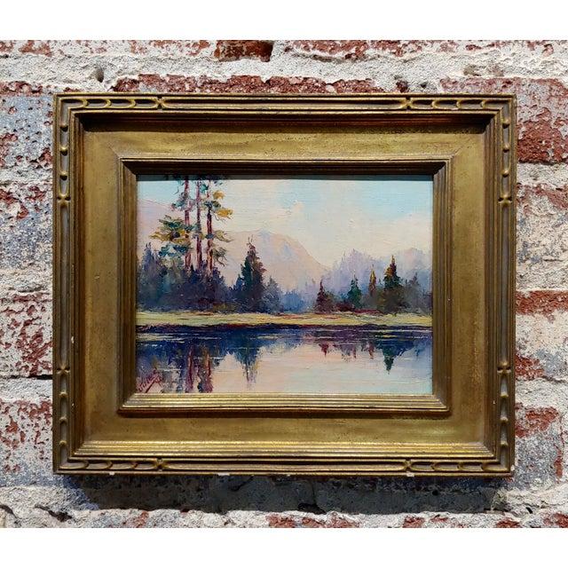 Jules Bernard Dahlager -View of Short Bay in Ketchikan Alaska C.1940- Impressionist Oil Painting For Sale - Image 9 of 9