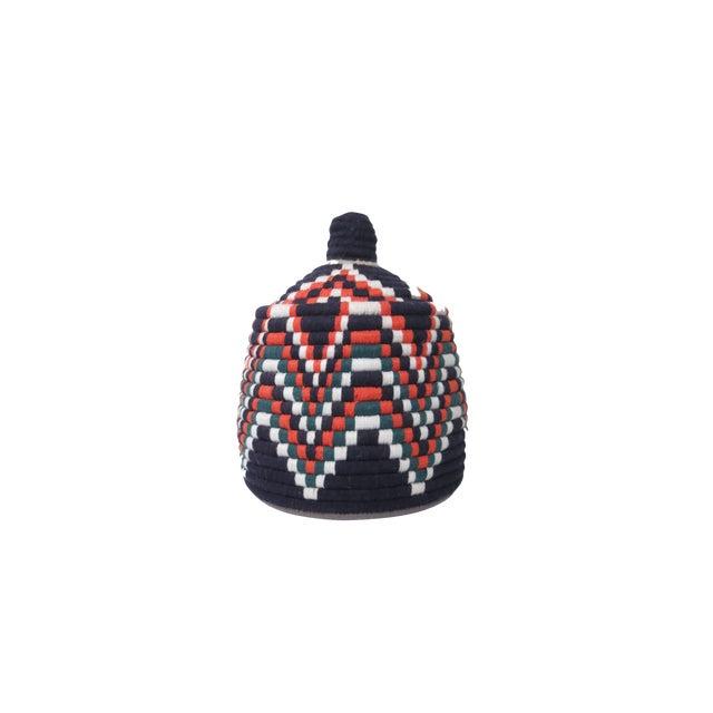 Sailor' Moroccan Woven Bread Basket For Sale