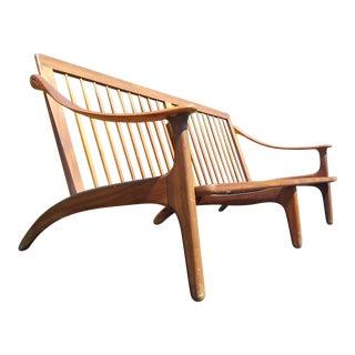 Danish Mid Century Modern Arne Hovmand-Olsen Teak Sofa For Sale