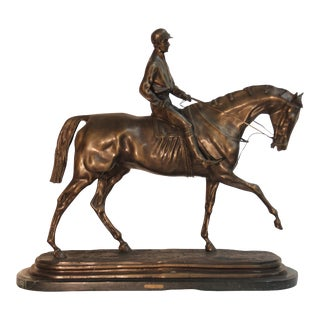 """Archer"" Bronze Statue by Pierre Tourgeneff For Sale"