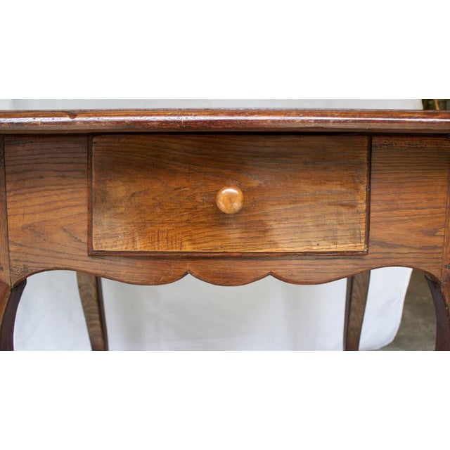 17th Century Antique Louis XV French Chestnut Desk / Side Table For Sale - Image 4 of 9