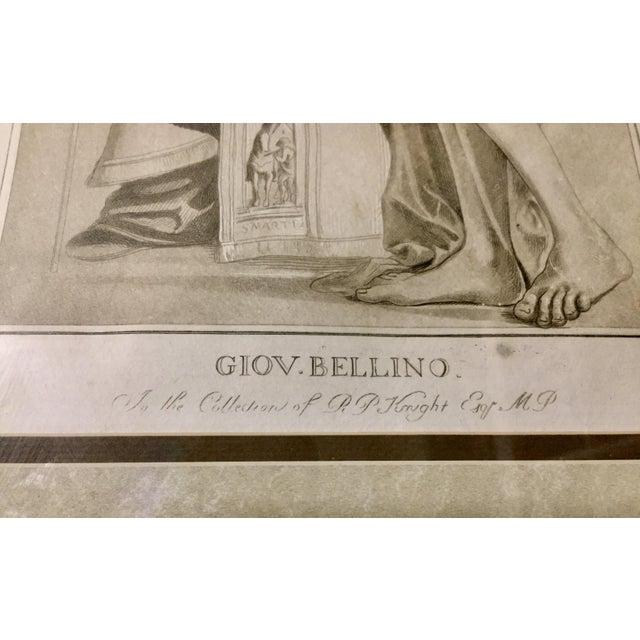 Etching 1770 Antique Giovanni Bellini Mezzotint Print For Sale - Image 7 of 8