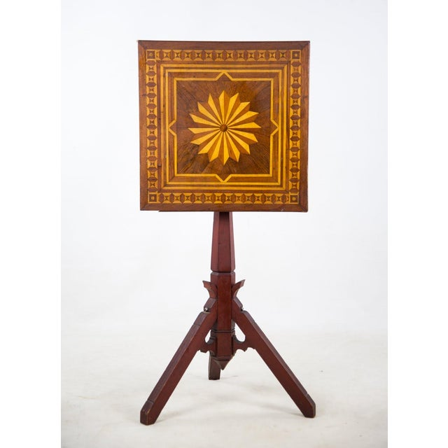 19th C. Victorian Tilt-Top Marquetry Occasional Table For Sale - Image 13 of 13