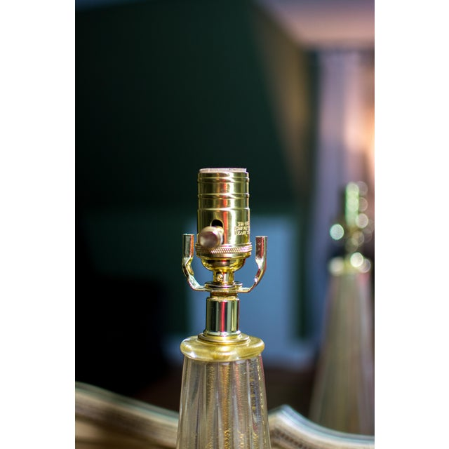 Vintage Gold Murano Glass Table Lamp - Image 7 of 7