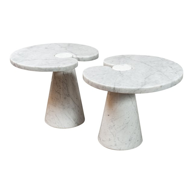 """Pair of Marble """"Eros"""" Tables by Mangiarotti For Sale"""