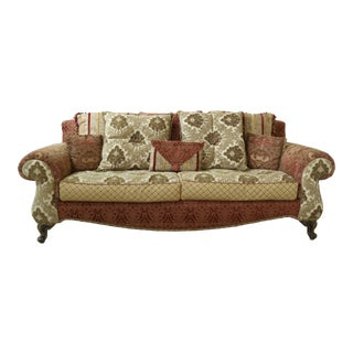 Carol Bolton Style Multi Fabric Fully Upholstered Sofa For Sale