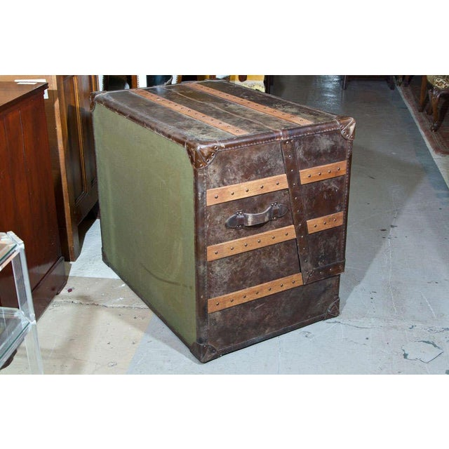 Leather and Cowhide Trunk Desk For Sale - Image 9 of 9