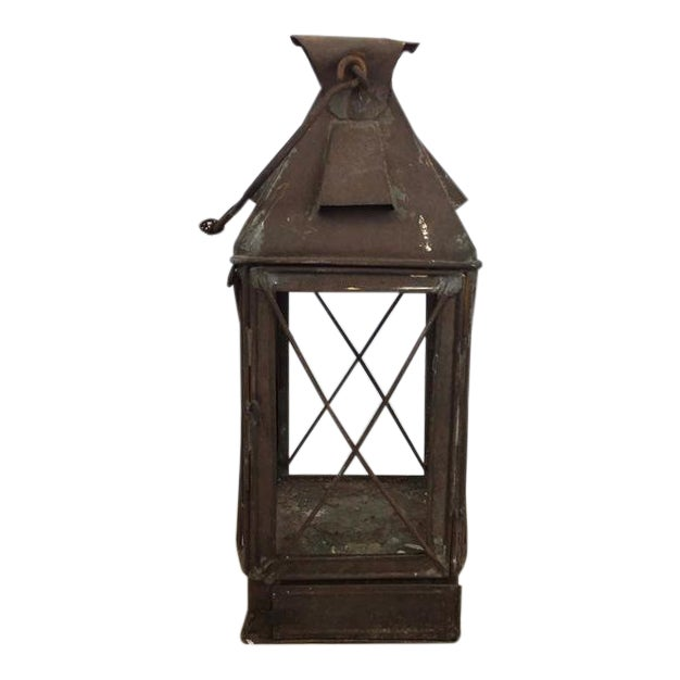 Antique Rustic French Style Candle Lantern - Image 1 of 10