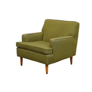 Mid Century Modern Green Armchair For Sale