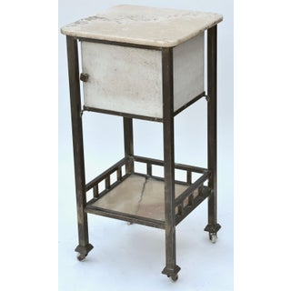 Antique Medical Marble Metal Rolling Cart Preview