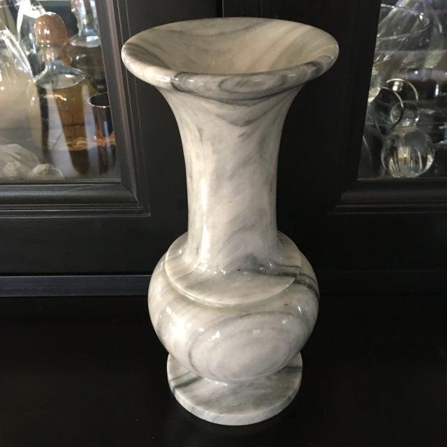 Italian Gray Amp White Marble Vase Chairish