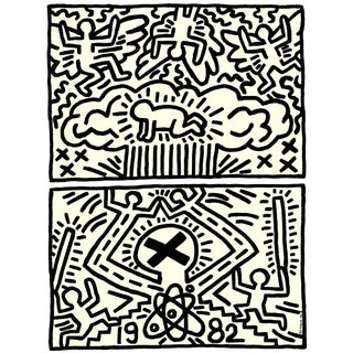 Keith Haring, Poster for Nuclear Disarmament, Edition: 2000, Offset Lithograph For Sale