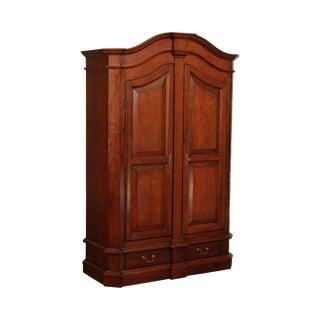 Selva Italian Walnut Louis XIII Style Armoire Wardrobe Cabinet For Sale
