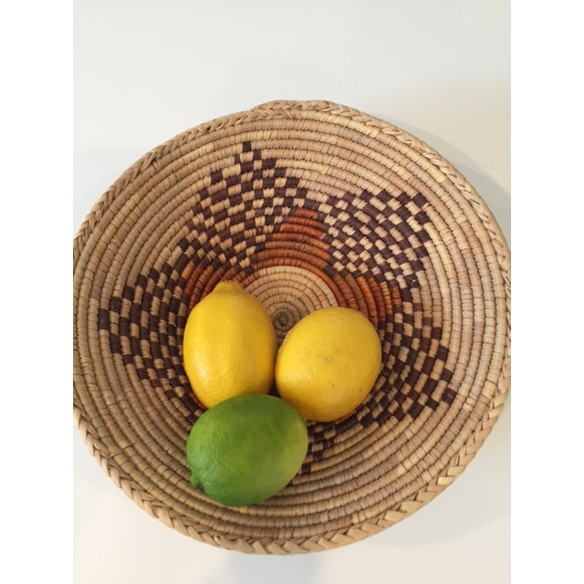 Vintage Native American Style Coil Basket - Image 6 of 8