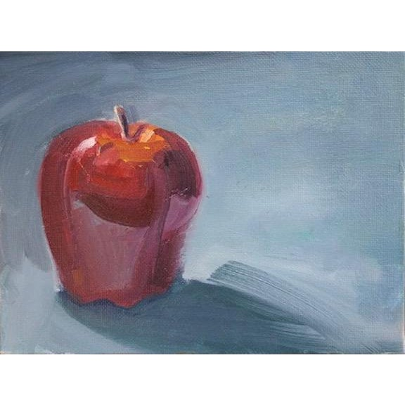 Just delicious! Red Delicious that is. A single apple painted in oil on archival quality cotton canvas panel by American...
