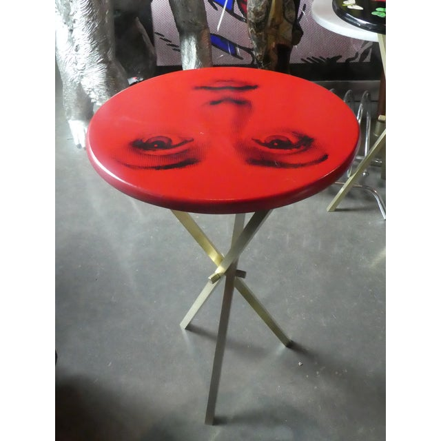 1970s Vintage Fornasetti Red Julia Side Table For Sale In Miami - Image 6 of 13