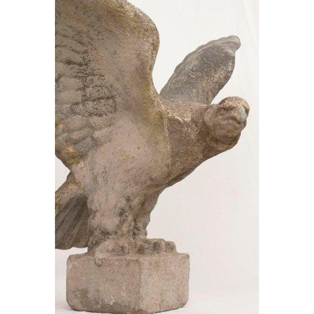 Mid-Century Modern 1920s Swedish Large Cast Stone Eagle For Sale - Image 3 of 4