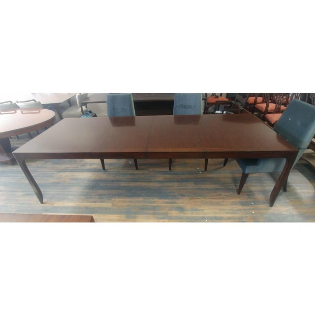 Henredon Furniture Barbara Barry Perfect Parsons Walnut Dining Table For Sale - Image 13 of 13
