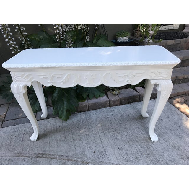 Vintage French Console Table For Sale - Image 4 of 6
