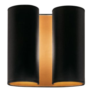 Satin Black Brushed Copper Wall Sconce For Sale