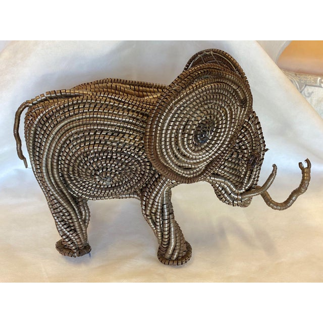 Mid Century Elephant Sculpture From Industrial Material For Sale - Image 4 of 13