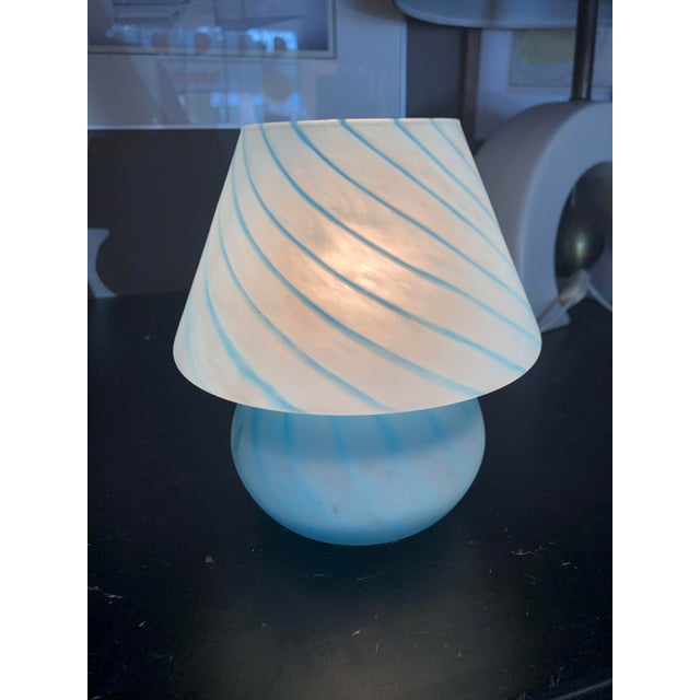 Italian 1970s Vetri Venini Murano Glass Mushroom Lamp For Sale - Image 3 of 10