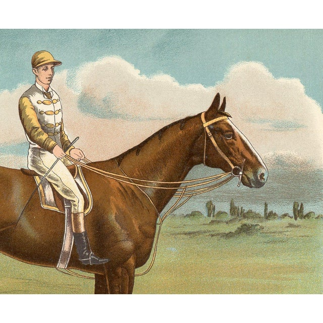 English Traditional Print of Sanfoin, 1890 Derby Stakes Winner For Sale - Image 3 of 3