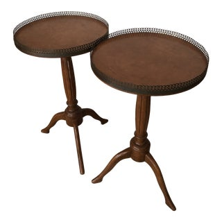 Traditional Wood Drink/Gueridon Tables - a Pair For Sale