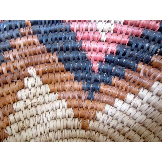 Hand Woven Natural Fiber Large Basket - Image 6 of 6