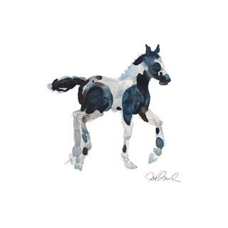 "Pony, Giclee Print. 8x10"" Watercolor For Sale"