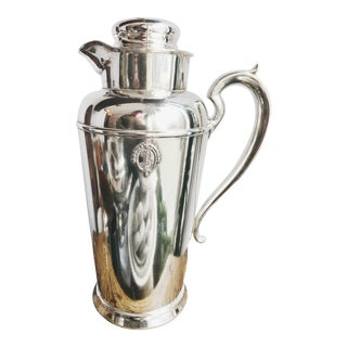 1928 Silver Plated Bowman Hotel Cocktail Shaker For Sale