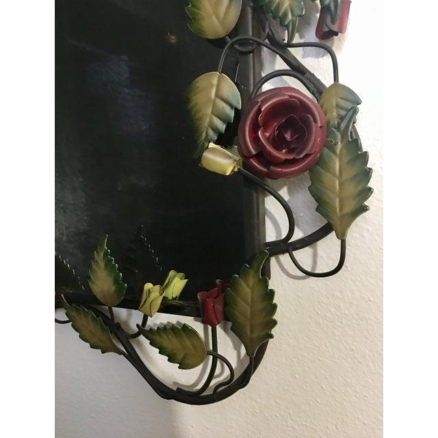 Bronze Framed Rose & Vine Mirror - Image 10 of 10