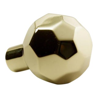 Facet-02 Polished Brass No Lacquer Knob For Sale