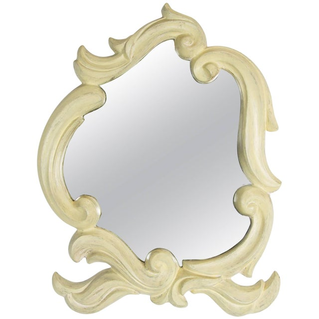 Glass French Molded Plaster Mirror, 1940s For Sale - Image 7 of 7