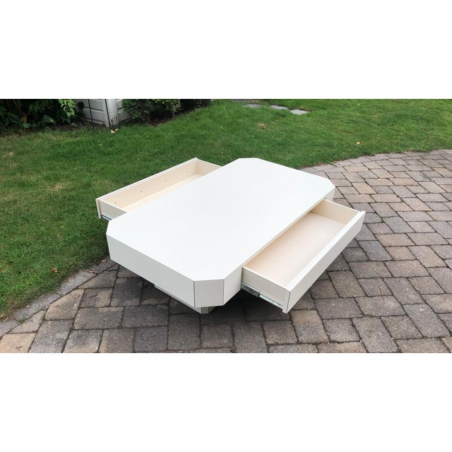 1980s Geometric Laminate Coffee Table For Sale - Image 12 of 13
