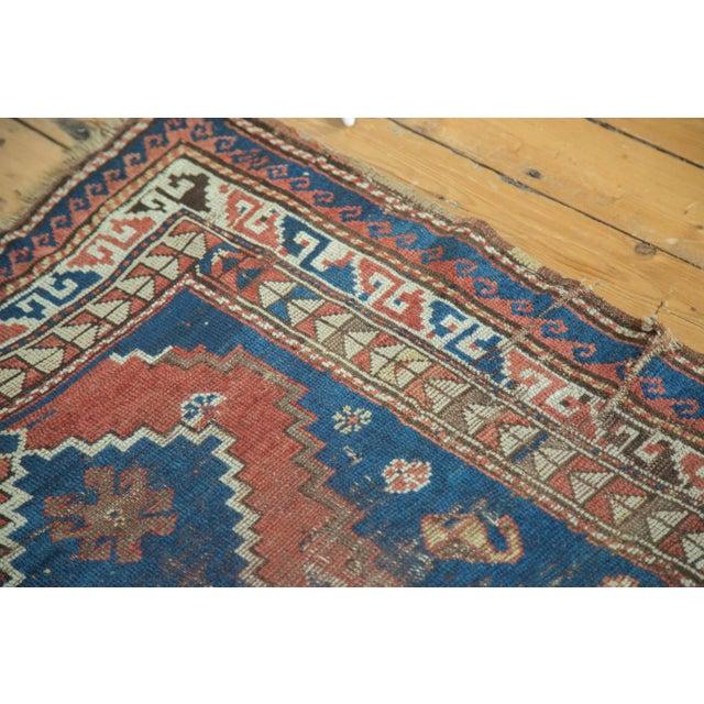 "Blue Vintage Caucasian Rug - 3'6"" x 6'6"" For Sale - Image 8 of 10"