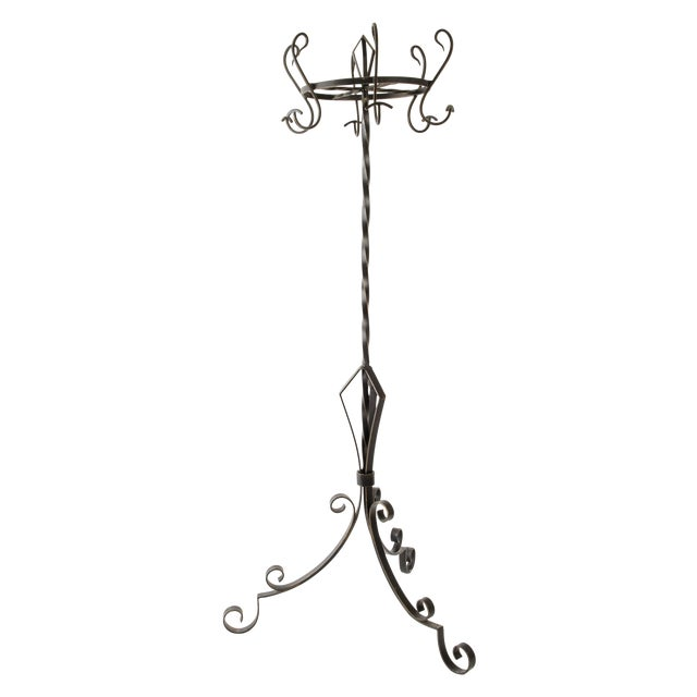 French Industrial Style Iron Hat and Coat Stand - Image 1 of 5