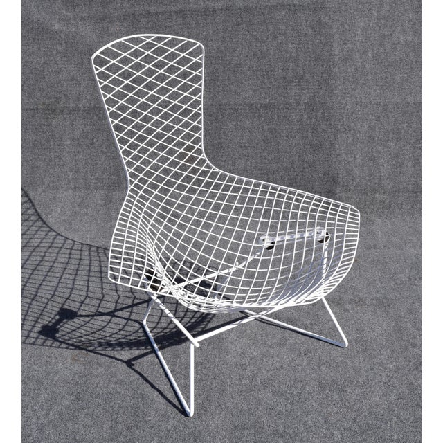 "Here's a vintage 1970's Harry Bertoia's ""Bird Chair"". It had light surface rust so it got sandblasted before being..."