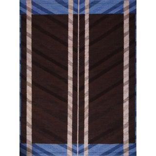 Swedish Flatweave Custom Design Rug - 5′ × 7′6″ For Sale